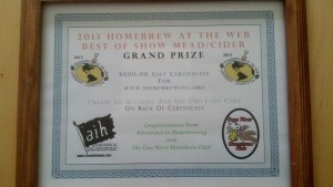 """Mead Ma Ma's Award for """"Best of Show"""""""